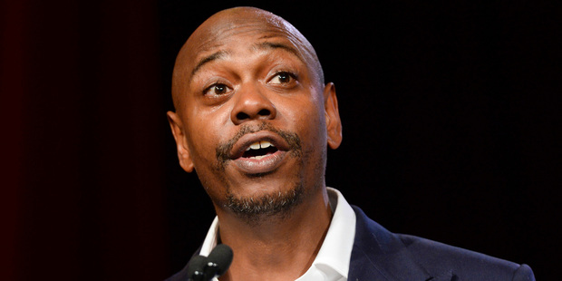 Comedian Dave Chappelle says Trump may have been in the right over that Access Hollywood tape. Photo / AP