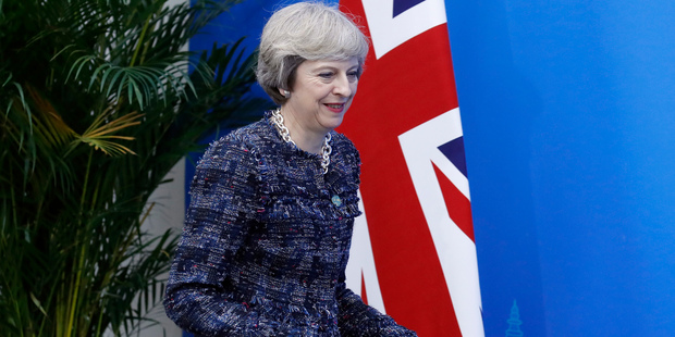 "UK Prime Minister Theresa May congratulated Trump on winning a ""hard-fought campaign."" Photo / AP"