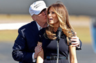 Republican presidential candidate Donald Trump and his third wife Melania. Photo / AP