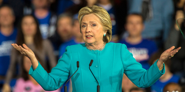 Democratic presidential candidate Hillary Clinton. Photo / AP