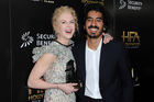 Nicole Kidman, left, and Dev Patel attend the press room at the 2016 Hollywood Film Awards. Photo / AP