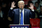 Michael Moore says Donald Trump, pictured, tried to sabotage his own Republican presidential primary campaign. Photo / AP
