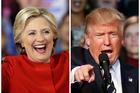 Hillary Clinton and Donald Trump. Photo / AP
