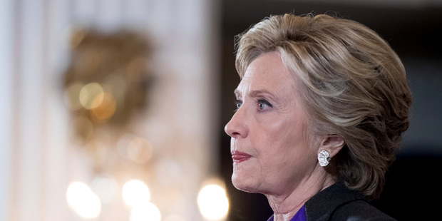 Hillary Clinton pauses while speaking in New York where she conceded her defeat to Republican Donald Trump. Photo / AP