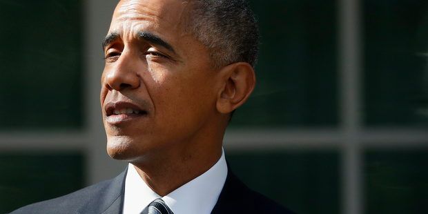 President Barack Obama speaks about the election. Photo / AP