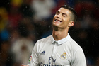 Real Madrid's Cristiano Ronaldo reacts during a Spain's La Liga soccer match between Real Madrid and Athletic Bilbao. Photo / AP.