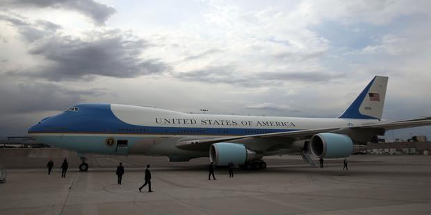 Air Force One. Photo / AP