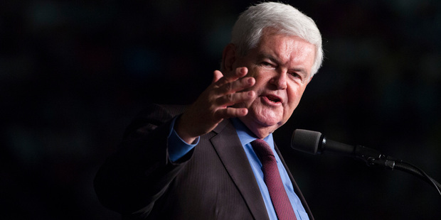 Former House Speaker Newt Gingrich is set to be influential in Donald Trump's new cabinet. Photo / AP