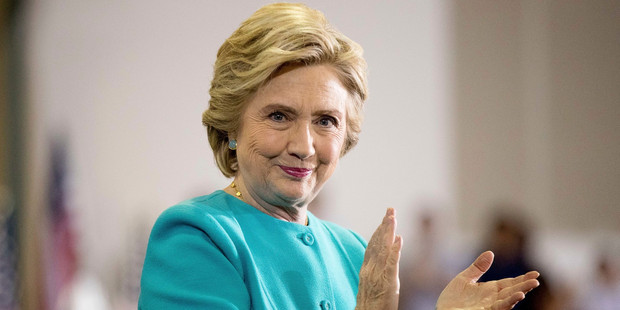 At a roundtable last year, Hillary Clinton wrongfully claimed all her grandparents were immigrants. Photo / AP