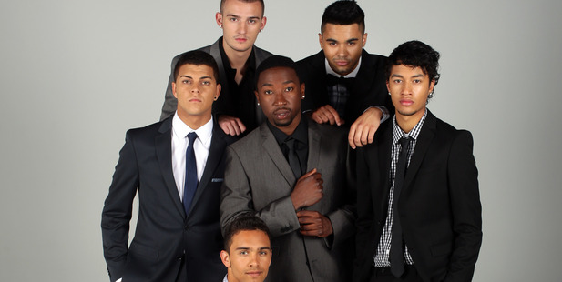 Pictured are the boy band Titanium today for View feature . Top Row : Haydn Linsley , Zac Taylor Middle : Andrew Papas , TK Paradza , Shaquille Paranihi-Ngauma Bottom : Jordi Webber. Photo / NZ Herald
