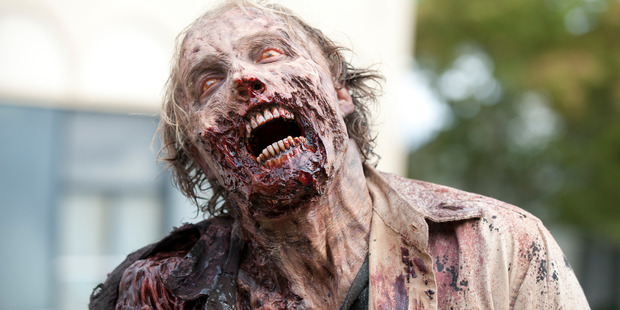 Scientists have re-enacted TV show The Walking Dead (pictured) with a simulated zombie invasion of Chicago. Photo / Gene Page/AMC