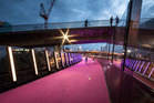 The LightPath has been a winner with cyclists and now has been judged the winner of the John Scott Award for Public Architecture in the New Zealand Architecture Awards.