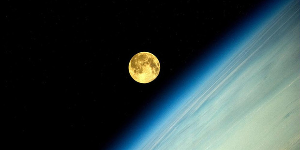 Astronaut Oleg Artemeyev aboard the International Space Station posted a series of pictures to twitter of the Super Moon as seen from space on August 10 2014. Photo / Twitter