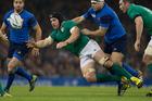 Ireland loose forward Sean O'Brien in action against France. Photo / Brett Phibbs