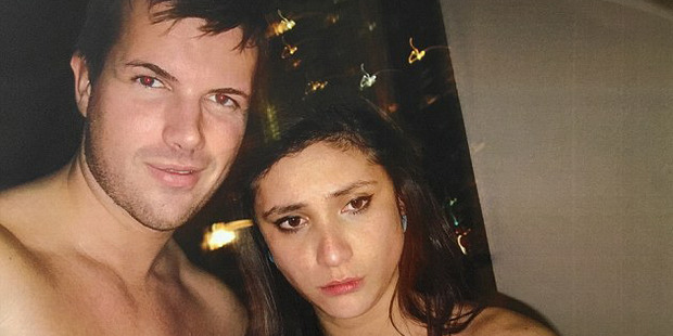 Photo of Warriena Wright and Gable Tostee taken inside his apartment the night Ms Wright died. Photo / Twitter