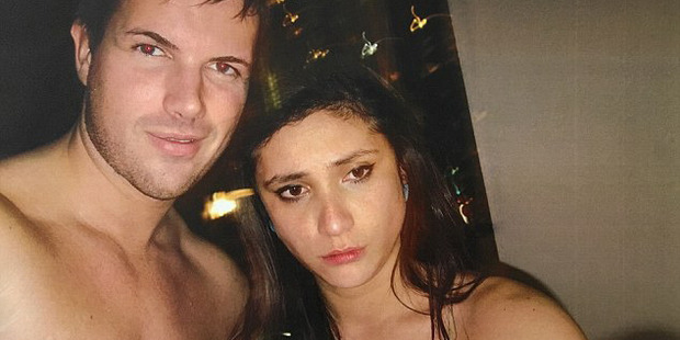 Photo of Warriena Wright and Gable Tostee taken inside his apartment the night Wright died. Photo / Twitter