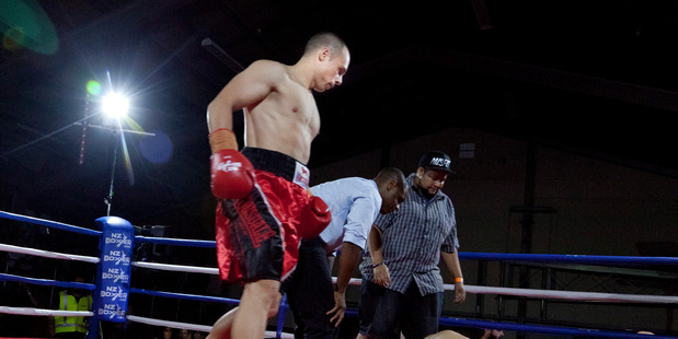 FEROCIOUS: Hard-hitting Jonathan Taylor is fighting for the NZPBA super-middleweight title in Auckland tonight. PHOTO: FILE