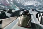 Tom Cruise rides a driverless car in sci-fi film Minority Report. Photo / File