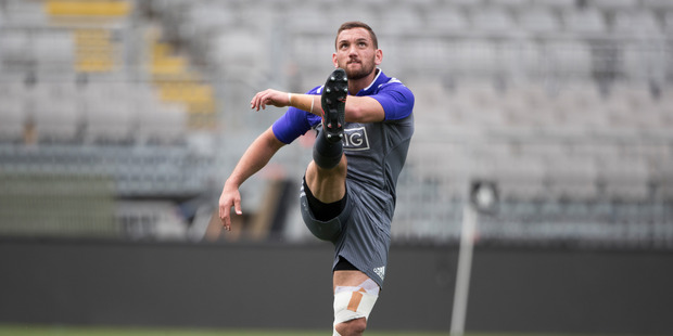 Cruden must bring that energy, direction and goalkicking tomorrow if his name is going to be in a lengthy selectors' discussion for the return test with Ireland. Photo / Brett Phibbs