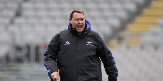 Loading All Blacks coach Steve Hansen. Photo / Brett Phibbs
