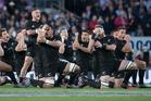 New Zealand All Blacks perform the haka. Photo / Brett Phibbs