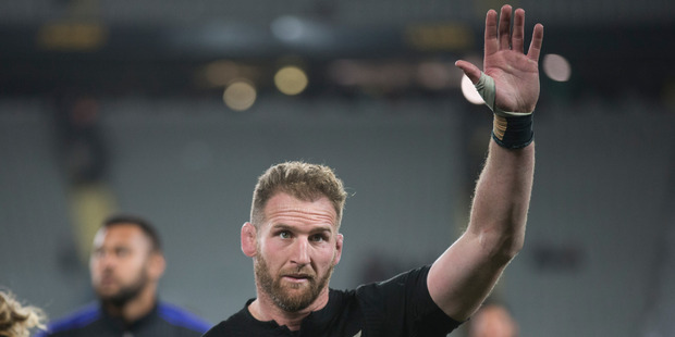 Kieran Read and the All Blacks will wear embroided poppies on their jerseys on Sunday morning (NZT) to mark Armistice Day. Photo / Brett Phibbs - NZ Herald.