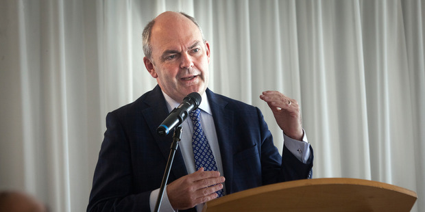 Minister Steven Joyce speaking at Mills Reef Winery during his last visit to Tauranga. Mr Joyce returns to the Bay today to speak with local business. Photo/file