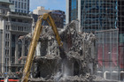 Demolition work at Auckland CBD's former Downtown shopping centre: a sign of big changes in the city.