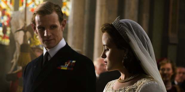 The first of its ten episodes begins in 1947, with then Princess Elizabeth's marriage to Philip Mountbatten. Photo / Netflix