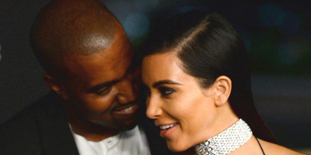 Kanye West and Kim Kardashian. Photo / AP