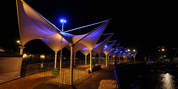 The Whangarei Canopy Bridge will be lit up in purple and gold at night this week.