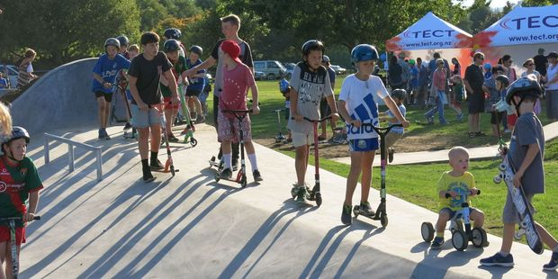 Opening of the Omokoroa Skate Path in May 2016. Photo/file