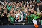 Ireland supporters celebrate victory after the International rugby match between Ireland and New Zealand at Soldier Field in Chicago, USA. Photo / Getty Images.