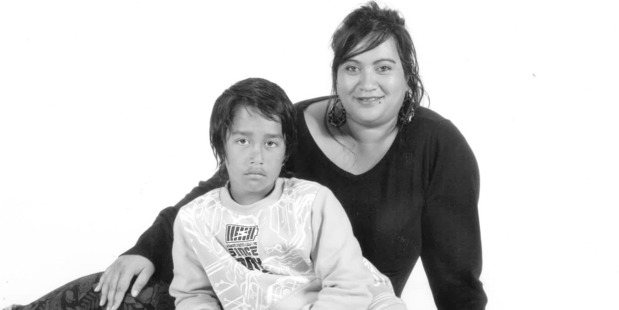 Mereana Fitzgerald died after a crash on SH5 on Wednesday. Here, she is pictured with son Chassy-Lee, 11. Photo / Supplied