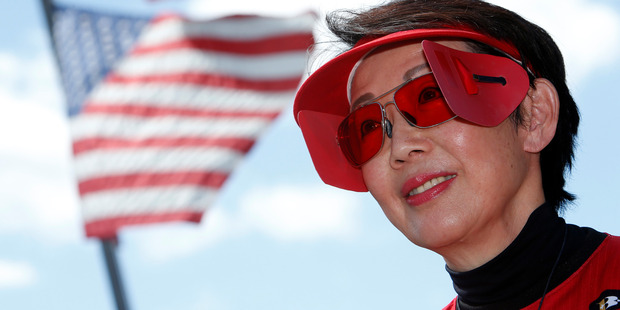 Champion American pistol shooter Vera Koo is competing in Whangarei today and eagerly awaiting the outcome of the US Presidential election.