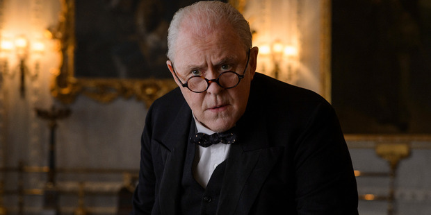 Churchill, played by the inspiredly-cast American actor John Lithgow, features prominently in the first episode, and indeed throughout the series of The Crown. Photo / Netflix