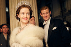 Claire Foy and Matt Smith in a scene from the Netflix series, The Crown.
