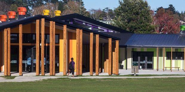 Te Kura Kaupapa Māori o Ngāti Kahungununu o Te Wairoa, designed by RTA Studio in Auckland, won the Ted McCoy Award for Education at the New Zealand Architecture Awards. Photo / Supplied