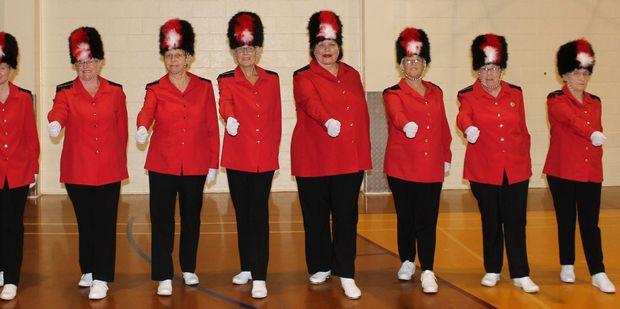 Members of Dannevirke's Ruahine Ramblerz leisure marching team