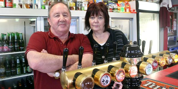 Shannon's Club Hotel owners Brian and Cynthia Bishop tell the new alcohol outlet they won't go down without a fight. Photo / Ashleigh Collis