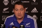 All Blacks coach Steve Hansen commenting on All Blacks team selection to play the test match against Italy in Rome.
