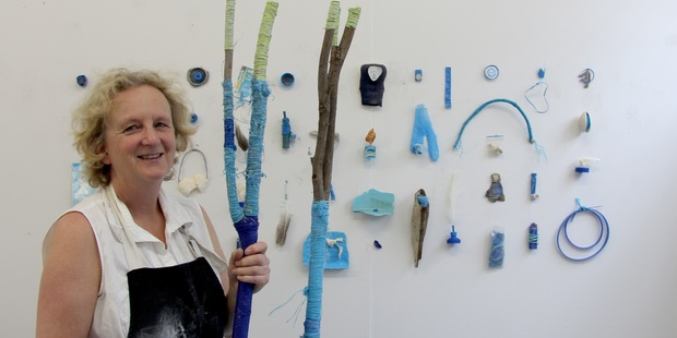 TALENT: EIT's ideaschool student Susan Mabin with an assemblage of found objects. PHOTO/SUPPLIED