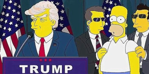 Loading Donald Trump, as depicted in the 2000 episode Bart to the Future.