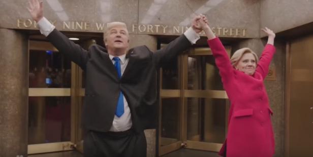 Alec Baldwin and Kate McKinnon on Saturday Night Live. Photo / NBC