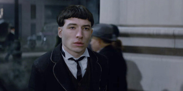 Ezra Miller stars in the upcoming movie Fantastic Beasts and Where to Find Them.