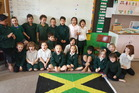 ROOM 2 gathered after learning about Jamaica's food and their national sport.