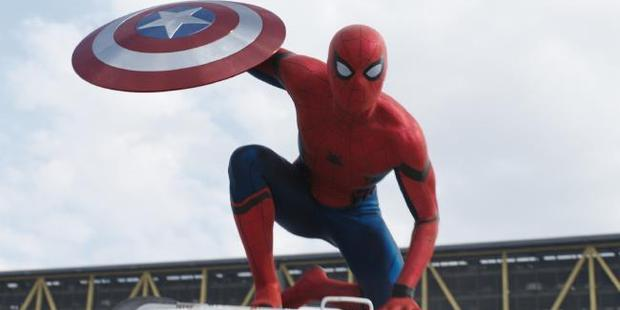 Tom Holland as Spider-Man in Marvel's Captain America: Civil War.