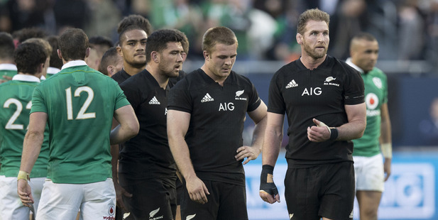 Loading All Blacks captain Kieran Read stunned after losing to Ireland during the test match. Photo / Brett Phibbs