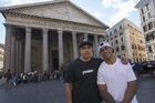 Members of the All Blacks squad did some sightseeing in Rome overnight ahead of Sunday's test against Italy.