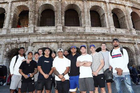 The All Blacks in Rome. Photo / Instagram